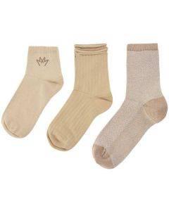 Mos Mosh Lurex Socks Pebble