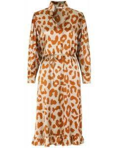 Notes Du Nord Rihanna Leopard  Loose Dress