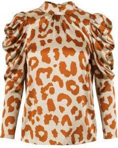 Notes Du Nord Rihanna Leopard Silk Blouse