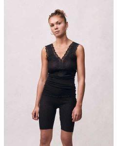 Seamless Basic Woollen Lacey Black