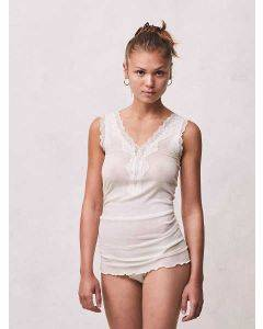 Seamless Basic Woollen Lacey Off White