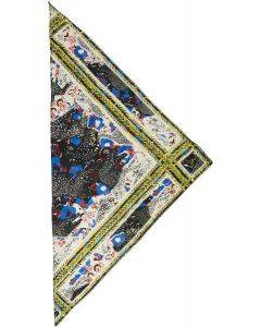 Lala Berlin Silk Triangle Cheeta Blue M