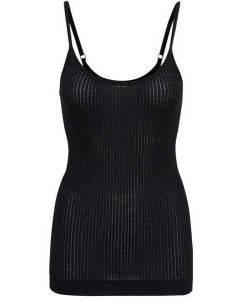 Seamless Basic Sofia Strap Top Black